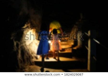 два ходьбе пещере иллюстрация женщину Сток-фото © colematt