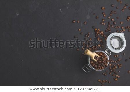 koffiepauze · top · vintage · koffiebonen - stockfoto © artsvitlyna