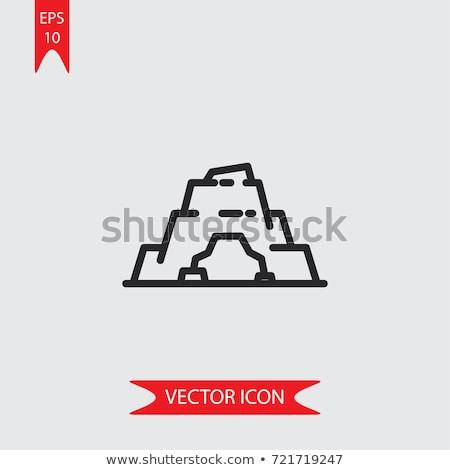Barlang ikon logo szimbólum terv vektor Stock fotó © blaskorizov
