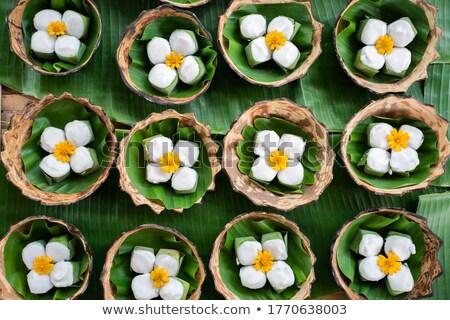 tradycyjny · żywności · ryżu · bananów · pozostawia - zdjęcia stock © dashapetrenko