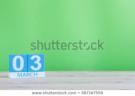 Cubes calendar 3rd March Stock photo © Oakozhan