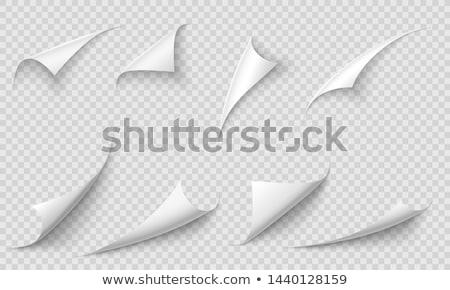 oldal · árnyék · lap · papír · fehér · matrica - stock fotó © Fosin