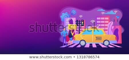 Intelligens közlekedés szalag fejléc város technológiák Stock fotó © RAStudio
