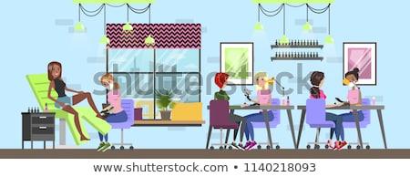 spa salon manicure and pedicure procedures vector stock photo © robuart