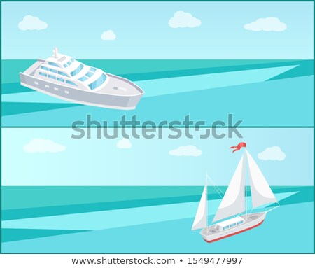 Sea Trip Web Posters Passenger Liner Marine Travel Stock photo © robuart