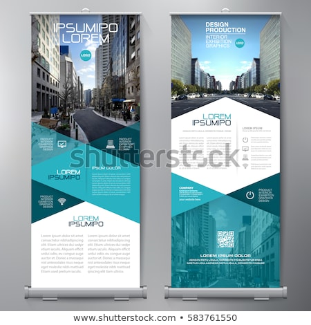business roll up banner or standee design template stock photo © sarts