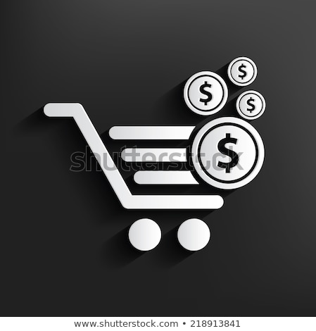 shopping cart with dollar symbol. Vector Illustration isolated on white background. stock photo © kyryloff