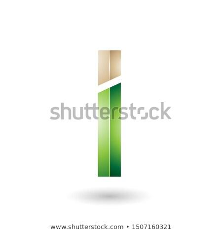 Beige verde rectangular letra i resumen Foto stock © cidepix