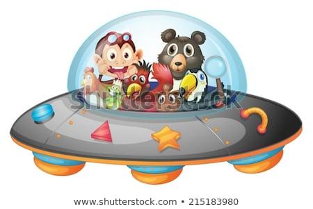 playful animals inside the saucer stock photo © colematt