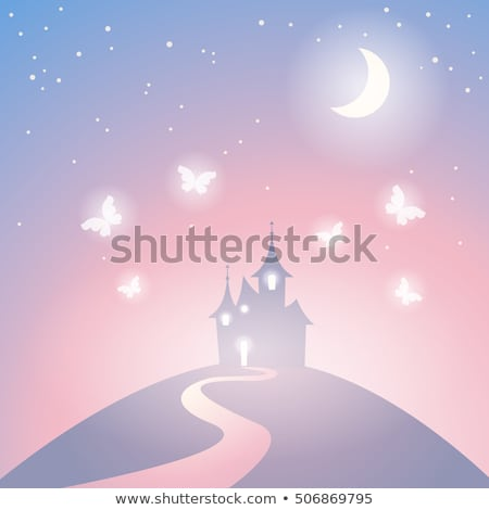 Stock photo: Fairy at the hill house template