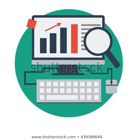 Finansów online zawartość wzrost stronie Zdjęcia stock © robuart
