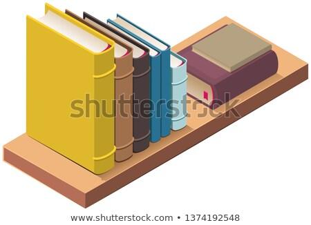 izometrik · vektör · kitap · ikon · eğitim · İncil - stok fotoğraf © orensila