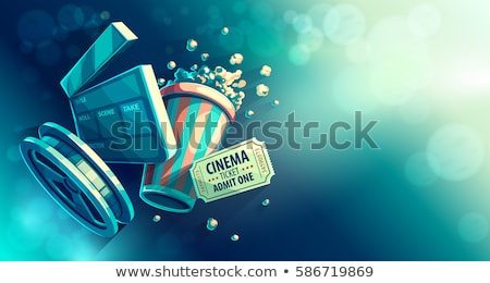 Online cinema art movie watching with popcorn Stock photo © LoopAll