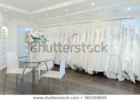 Wedding dress in the showcase Stock photo © adrenalina