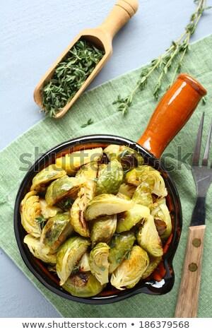 Házi készítésű sült fokhagyma zöld olaj hús Stock fotó © Melnyk