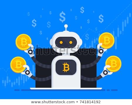 Crypto trading bot concept vector illustration Stock photo © RAStudio