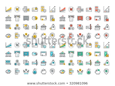 Colorful icon set for business, management, technology and finances. Flat objects for websites and m Stock photo © makyzz