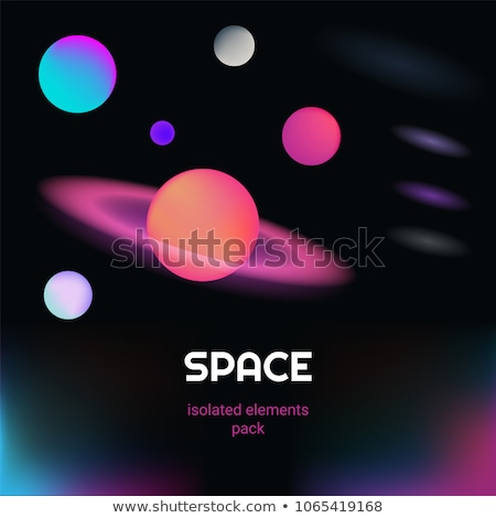Galaksi neon etiket uzay tanıtım güneş Stok fotoğraf © Anna_leni
