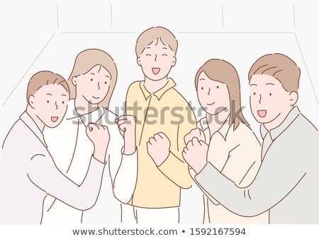 Businesspeople Fighting With Clenching Fist Stock photo © AndreyPopov