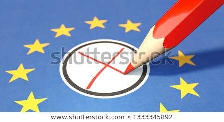 Paper Banner European Elections 2019 Red Pen Stock photo © limbi007