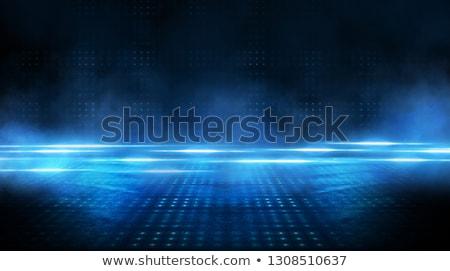 Abstract Blauw zoom effect muziek Stockfoto © SArts