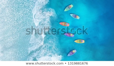 tropical landscape with boat at sand beach stock photo © vapi