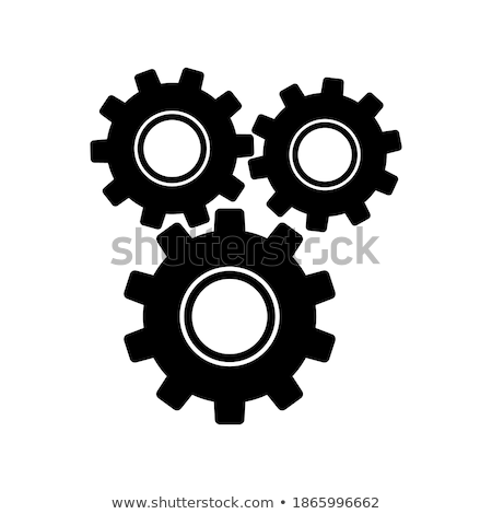 Collection of gearwheel mechanism icon set. Vector illustration isolated on white background. Stock photo © kyryloff