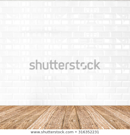 ストックフォト: Shelf On A White Tiled Wall
