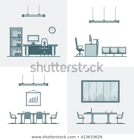Colorful Design of Room, Table with Chairs vector Stock photo © robuart