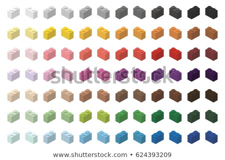 Children brick toy simple color spectrum bricks 2x1 high, isolated on white background  Stock photo © ukasz_hampel