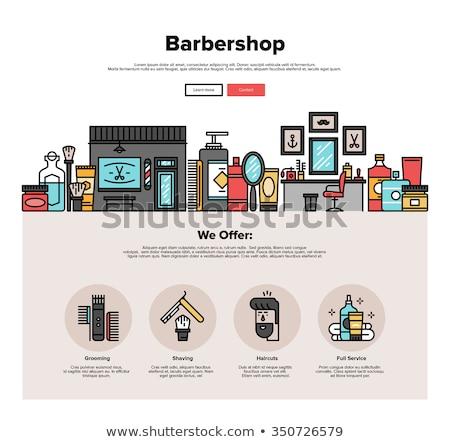 Grooming salon concept banner header Stock photo © RAStudio
