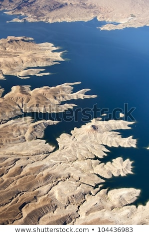 aerial view of grand canyon and lake mead stock photo © dolgachov