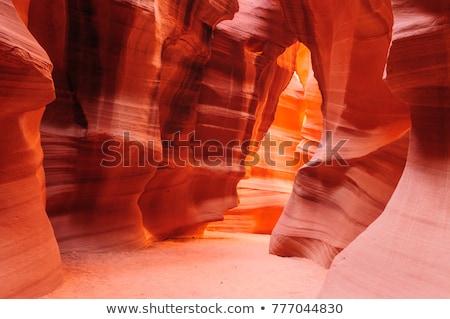 kanyon · Arizona · kilátás · homokkő · minták · természet - stock fotó © vichie81