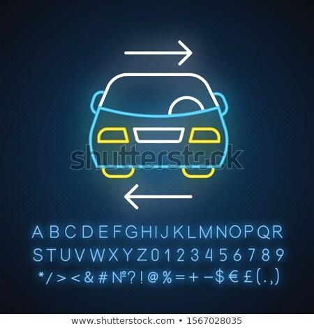 Autó matematika szimbólum lift illusztráció raktár Stock fotó © lenm