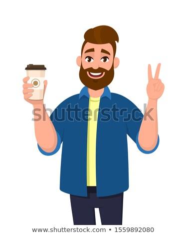 чай дегустация человека иллюстрация ложку Сток-фото © lenm