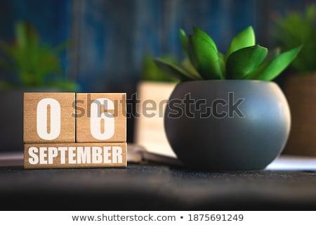 Cubes calendar 6th September Stock photo © Oakozhan