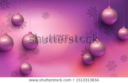 вектора · Рождества · реалистичный · красный · счастливым - Сток-фото © cienpies