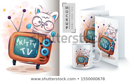 Kitty TV poster and merchandising Stock photo © rwgusev