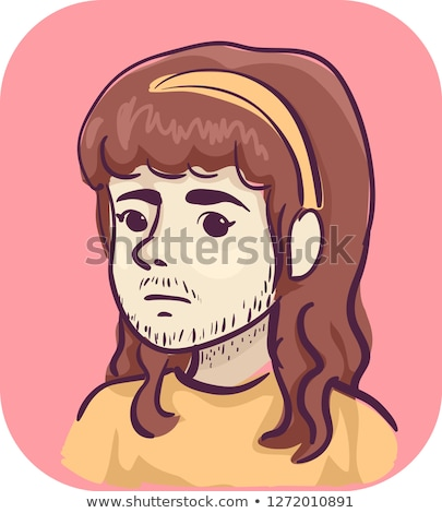 Meisje gezichtshaar symptoom illustratie vrouw vrouwelijke Stockfoto © lenm