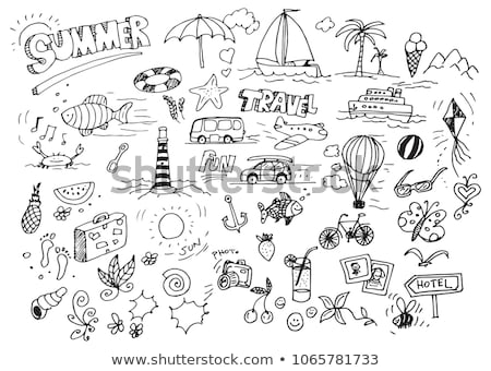 Vacation hand drawn illustration stock photo © barsrsind