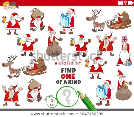 one of a kind task with Santa Claus characters Stock photo © izakowski