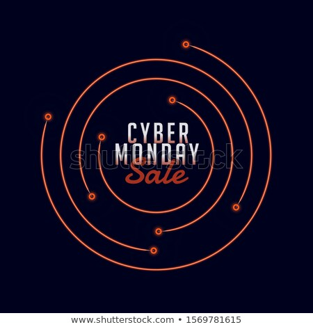 cyber monday sale stylish background with circular lines Stock photo © SArts