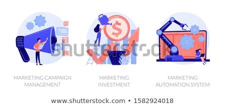 Marketing automatisation vecteur métaphore logiciels crm Photo stock © RAStudio