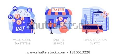 Taxation system vector concept metaphors Stock photo © RAStudio