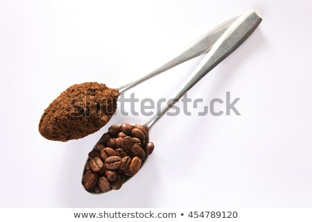 Grain de café blanche cuillère vue Photo stock © Digifoodstock