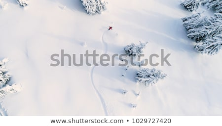 Fresh snow on ski slope, winter landscape Stock photo © JanPietruszka
