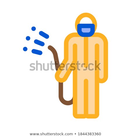 Human with Chemical Aerosol Icon Vector Outline Illustration Stock photo © pikepicture