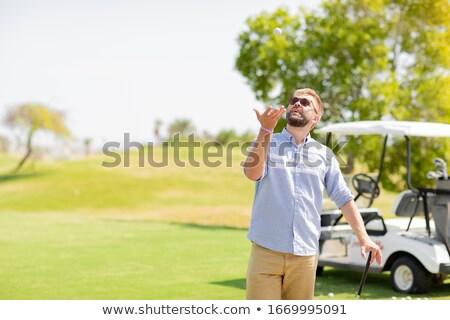 Homem golfe diversão fim de semana verão movimento Foto stock © ElenaBatkova