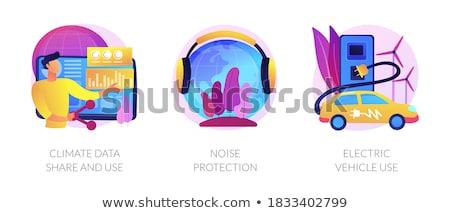 Clima dados ruído proteção elétrico veículo Foto stock © RAStudio