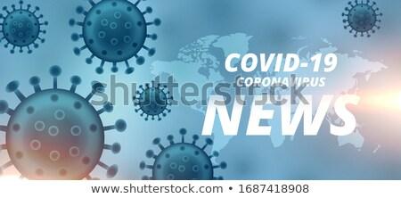 coronavirus latest new and updates banner design Stock photo © SArts